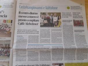 """L'articolo sul quotidiano di Piacenza """"Libertà"""""""